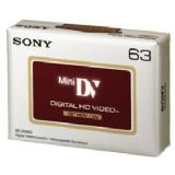 Sony DVM63 HD High Definition mini DV cassette Hi-Def single tape